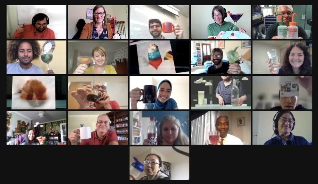 Workshop participants celebrate